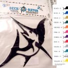 Jumping Sailfish Vinyl  2 pack Decal Yellow