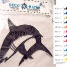Jumping Shark Vinyl  2 pack Decal Black