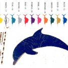 Porpoise Vinyl  Decal 2 pack Blue