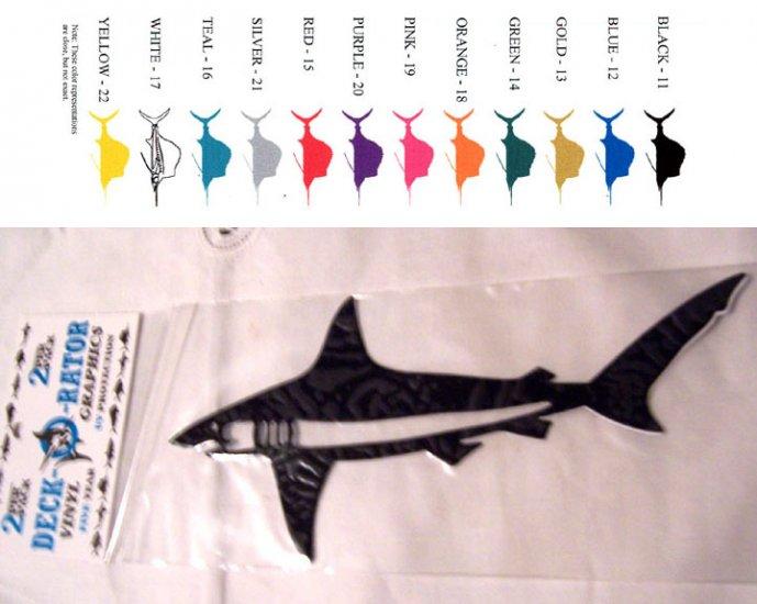 Shark Vinyl Decal 2 Pack Yellow