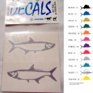 Small Tarpon Vinyl Decal 2 pack Silver