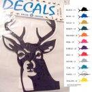 Deer Head Vinyl Decal 2 pack Blue