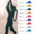 Diver Vinyl  Decal 2 pack Silver