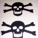 Jolly Roger Vinyl Decal 2 pack Small - Black