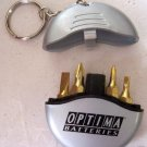 Pocket screwdriver set--4 bits NEW Optima Batteries