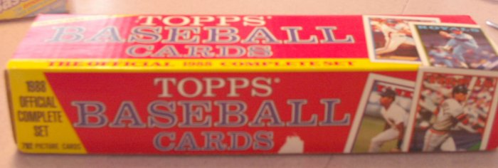 1988 Topps Baseball Cards Factory Set Holiday