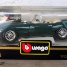 "Bburago 1961 Green Jaguar """"E"""" Cabriolet 1:18 NEW"