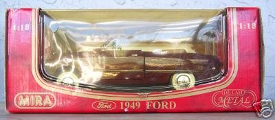 Mira 1949 Red Ford Convertible NEW 1:18 scale diecast