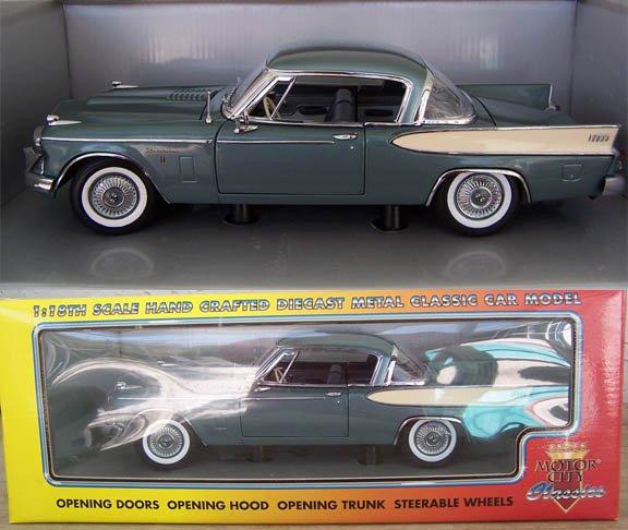 Motor City 1957 Studebaker Golden Hawk 1:18 Diecast NEW