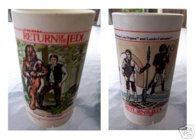 Return of the Jedi Plastic Cups 2 sizes, 1983