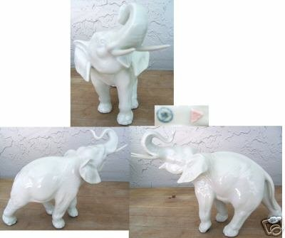 Royal Dux White Elephant Standing Mint Condition