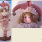 Mardi Gras Doll w/jester hat and porcelain bust