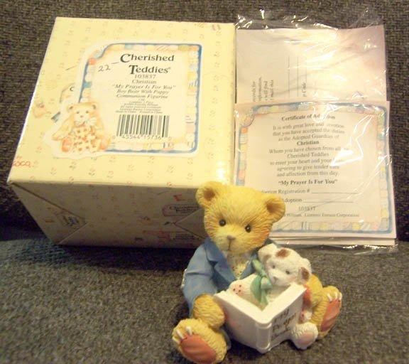 Cherished Teddies #1038537 Christian NEW in Box
