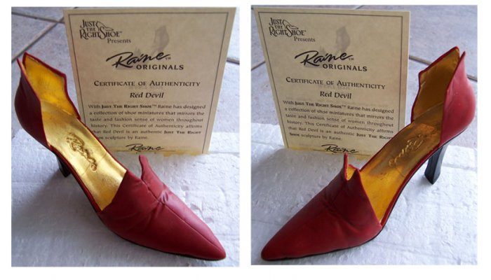 Just the Right Shoe 25082 Red Devil NEW