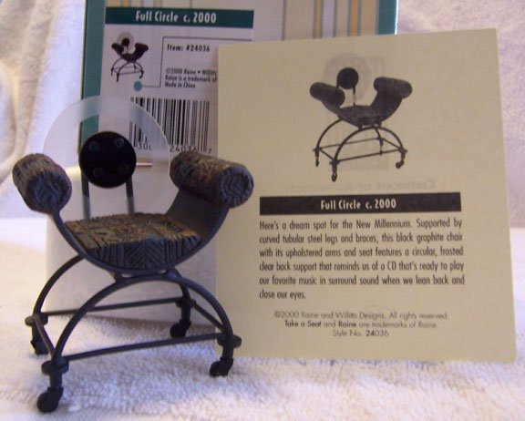 Take a Seat by Raine Full Circle  #24036 NEW in Box