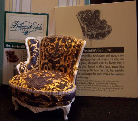 Take a Seat by Raine Mrs. Vanderbilt's Chair #24030 NEW in Box