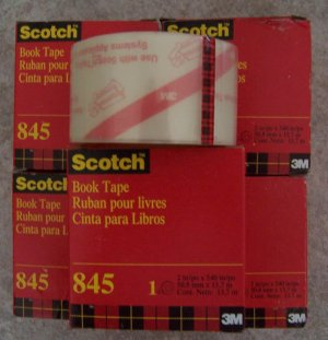 5 Rolls Scotch Transparent Book Tape #845 NEW in Box