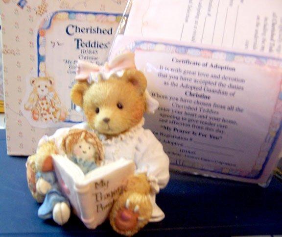 Cherished Teddies #103845 Christine