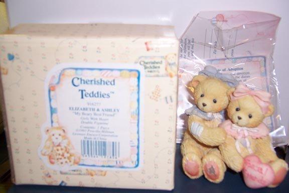 Cherished Teddies #916277 Elizabeth & Ashley New in Box
