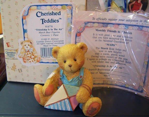 Cherished Teddies #914770 Mark - March Bear