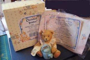 "Cherished Teddies #914800 June ""Planting the Seed of Friendship"" Bear"