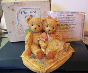 Cherished Teddies #950513 Nathaniel & Nellie