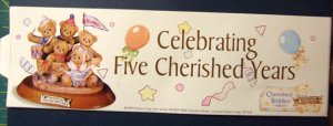 "Cherished Teddies ""Celebrating Five Cherished Years"" Sticker"