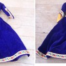 Vintage Barbie Guinevere Gown Blue Velvet with Trim