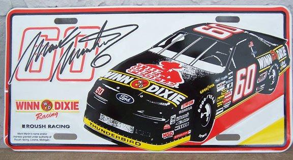 Busch Series Mark Martin #60 Winn Dixie License Tag