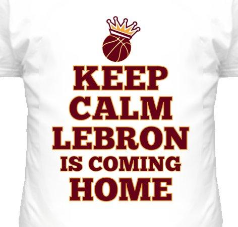 Keep Calm Lebron Basketball T Shirt - Lebron James Cleveland Cavaliers