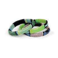 Thick Banded Embroidered Tuareg Bracelet (J-B270)