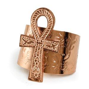 """3"""" Ankh Cuff Copper (J-B072)"""