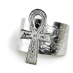 "3"" Ankh Cuff Silver (J-B071)"
