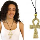 "Brass Ankh Necklace : XL (4"") (N-022)"
