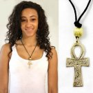 "Brass Ankh Necklace : Medium (2"") (J-N021)"