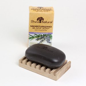 100% Natural Moisturizing Lavender Black Soap - 5 oz. (M-S652)