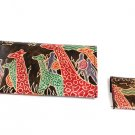 Wallet Set: Giraffe Warriors - Black (C-A172:GW:Blk)