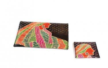 Wallet Set: African Goddess - Brown (C-A172:AG:Brn)