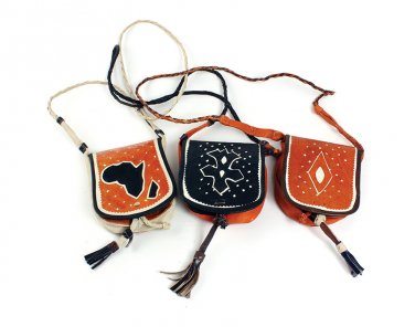 Tuareg Leather Small Handbag  (C-A111)