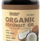 Organic Coconut Oil (1000 mg) - 60 Caps (H-032)