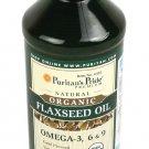 Organic Flax Seed Oil  16 oz. (M-P192)