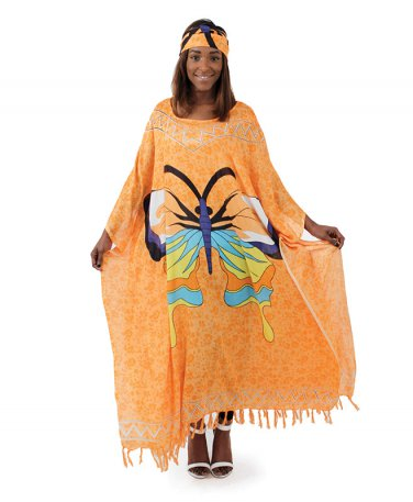 Butterfly Kaftan (C-WF819) Orange