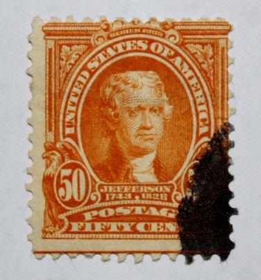 U.S. #310 - 1903 50c Jefferson, orange