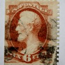 U.S. Cat. # 159 - 1873 6c Lincoln dull pink
