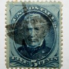U.S. Cat. # 185 - 1879 5c Zachary Taylor, blue