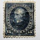 U.S. #274 - 1895 15c Clay, DL Wmrk dk blue
