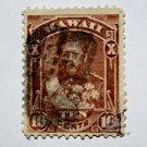 U.S. Cat. # H44 - 1883-86 10c red brn,perf 12,wove paper