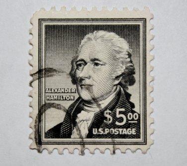 U.S. Cat. # 1053 -1956 $5 Alexander Hamilton