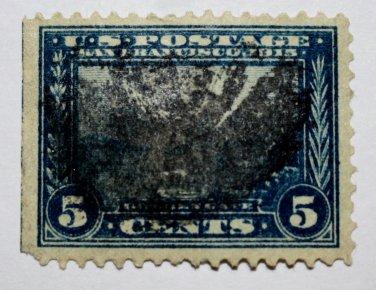 U.S. Cat. # 399 - 1913 5c Golden Gate perf 12 blue