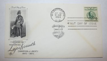 First Day of Issue - Lajos Kossuth 1958